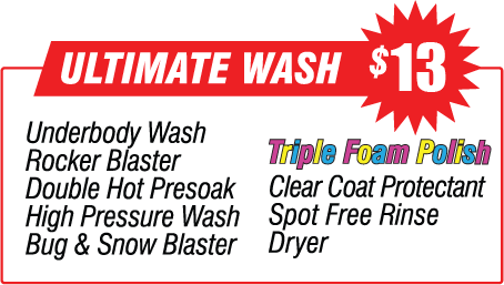 Ultimate Wash - $12.00 Car Wash