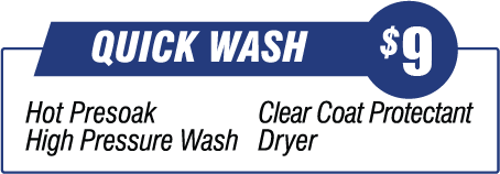 Quick Wash - $8